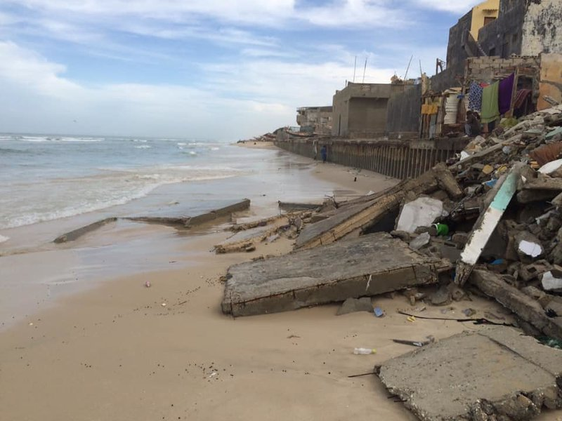 Climate change and costal Erosion in Saint Louis, Senegal