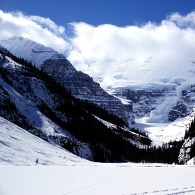 Avalanche at Lake Louise, Canada