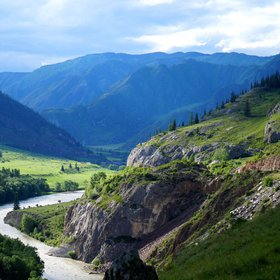 Altai region, river valley