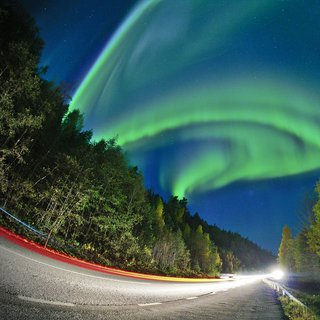 Aurora show on the road