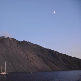 Nightfall at the Stromboli Volcano