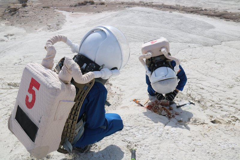 Analogue Simulation Sample Collection at Mars Desert Research Station