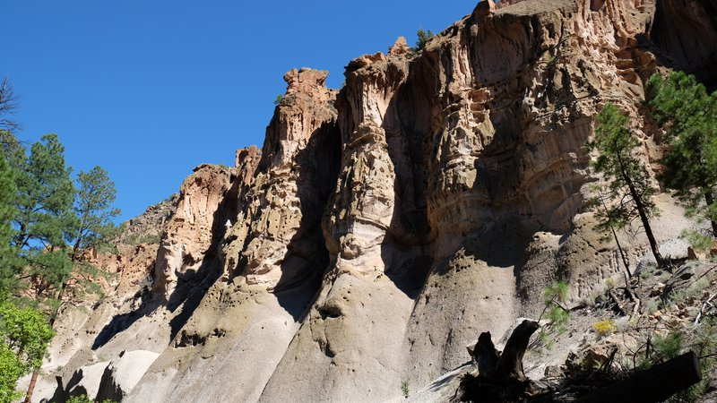 Cliff in the Bandelier National Monument
