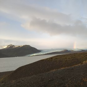 A suddenly rainbow in iceland!