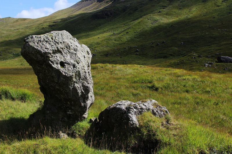 Glacially transported boulders, Glen More