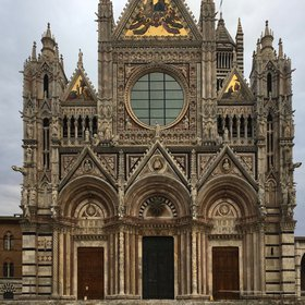The facade of the Siena Cathedral - Tuscany