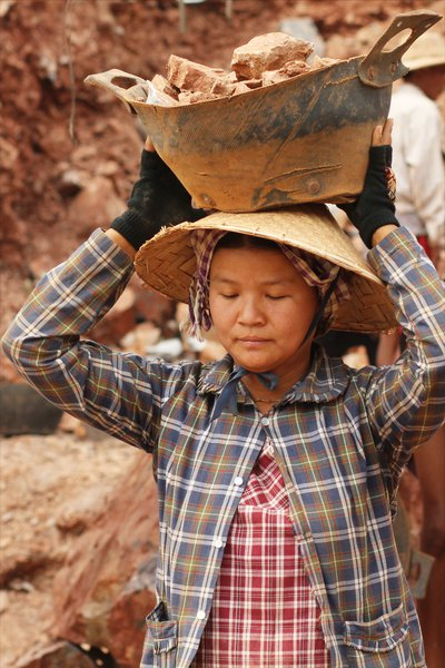 Gold mining on the Shan Plateau, Myanmar