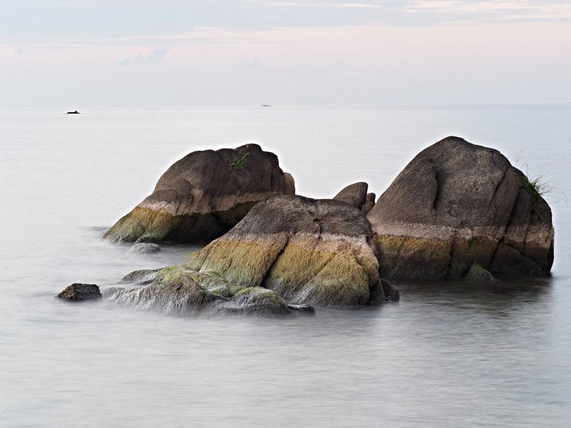 Lake Malawi Rocks Showing Lake Level Drop