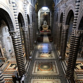 The marble floor of the Cathedral of Siena