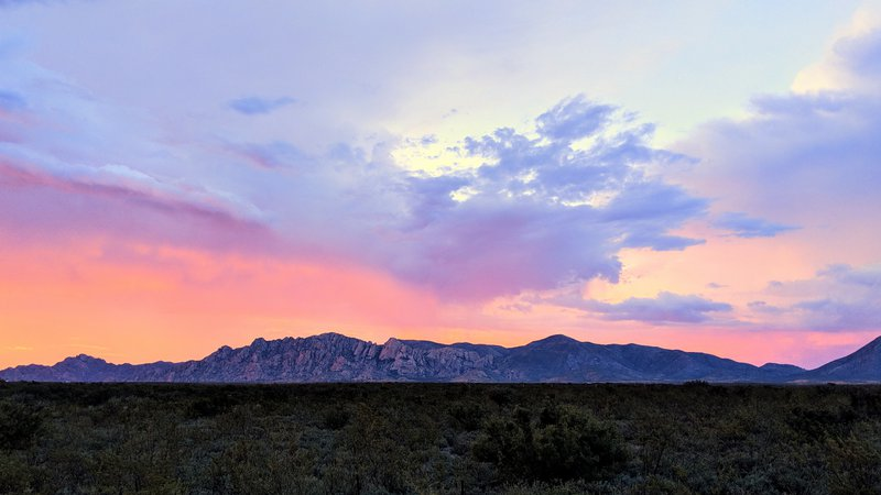 Sunset time near the Dragoon Mountains