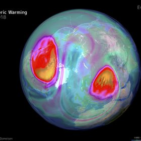 The sudden stratospheric warming on February 12, 2018