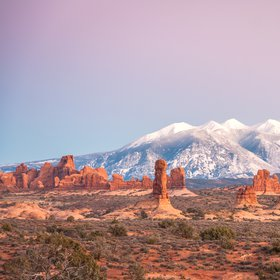 Contrasting Colors: Pinnacles & Mountains