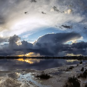 Storm at the 'Lagunas de La Mata-Torrevieja' Nature Park (Spain)