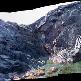 Complex deformation of Ordovician aged sediments, Notre Dame Bay, Newfoundland