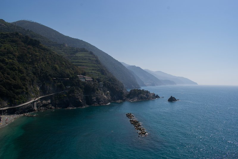 Endless coastline in Italy