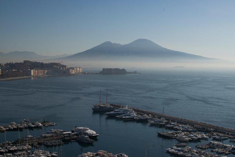 Vesuvius in morning mist