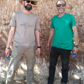 Soil scientists in action: Arturo and Pepe Plutonio