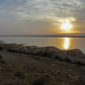 Sunset, Eastern Dead Sea shore, Ghor Al-Haditha