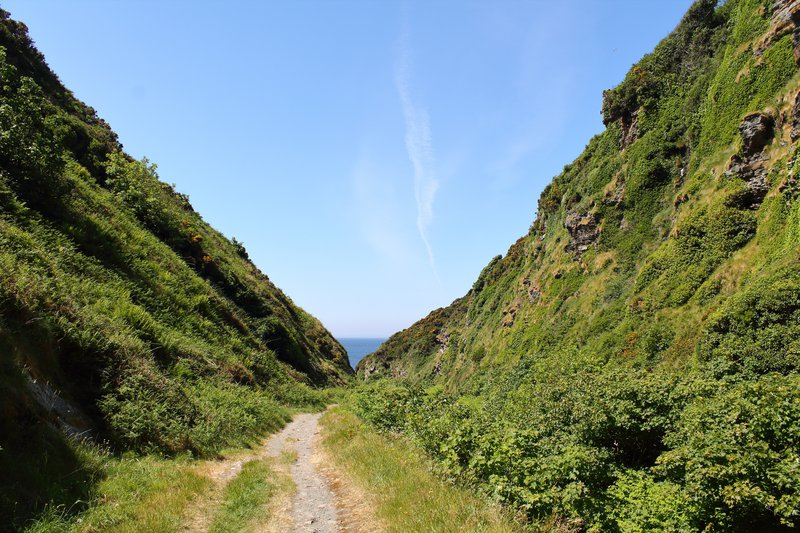 View down Glen Maye, Isle of Man