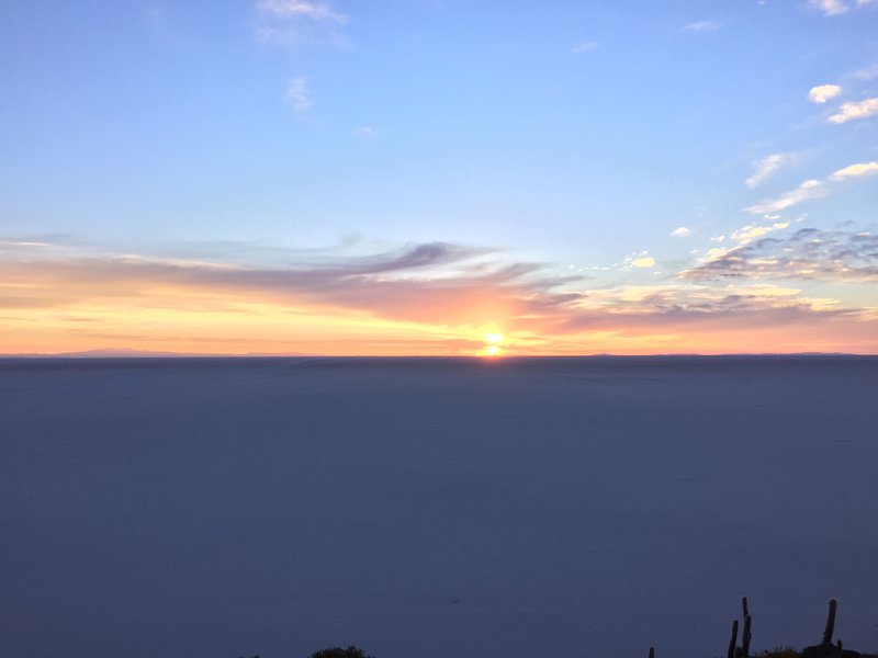 sunrise in Uyuni salt flats
