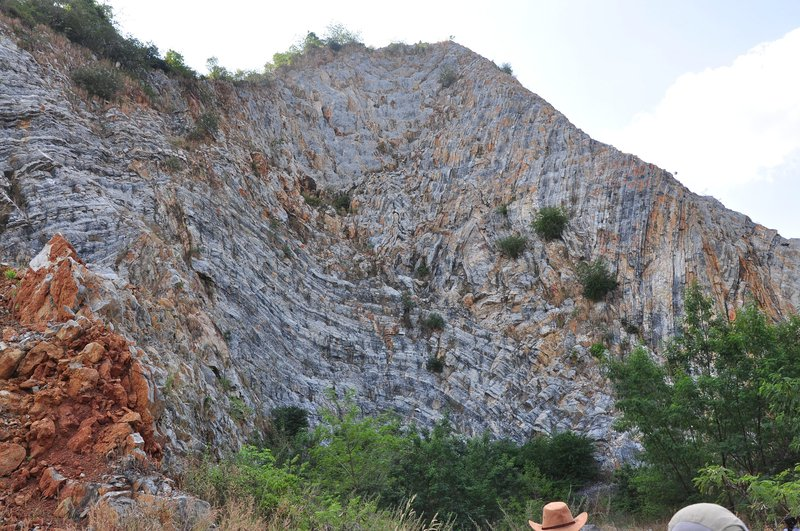 Complex structural geology of Thailand