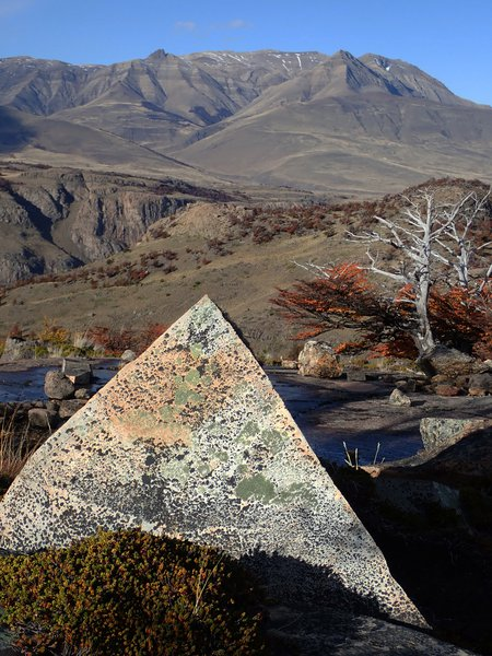 Rock pyramid shaped by weathering