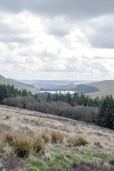 A view over valleys in Brecon Beacons national park