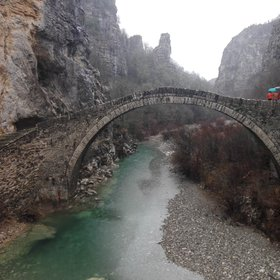 Traditional arched stone-bridge in Zagori
