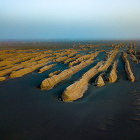Yardangs in the Gobi desert