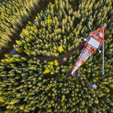 Flux tower in Finland
