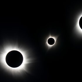 Total solar eclipses of 2015, 2017 and 2019