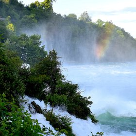 Swiss Rhine Falls Water Jet Rainbow