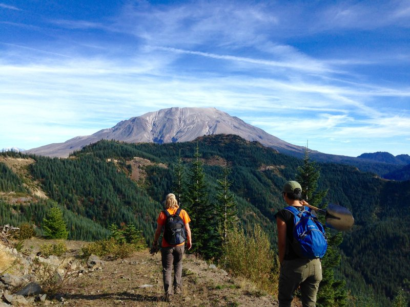 Into Mount St. Helens