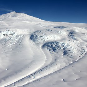 Aurora Glacier on Mount Erebus - the most active volcano in Antarctica