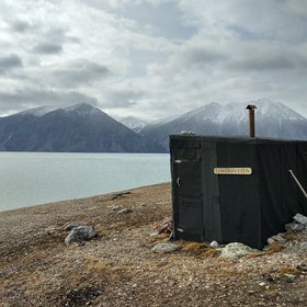 "Trapping hut ""Fiskerhytten"" in Young Sound, NE Greenland"