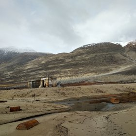Historic remains in Young Sounds, NE Greenland