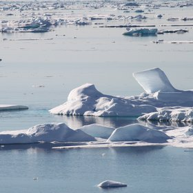 The dwindling Arctic sea ice, Fram Strait