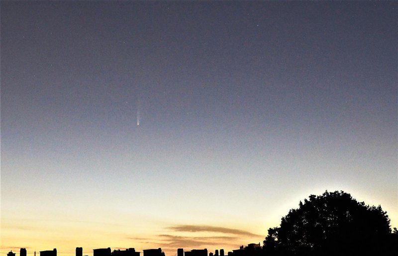 Comet NEOWISE from Brussels