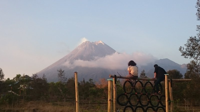 Mount Merapi from Distance