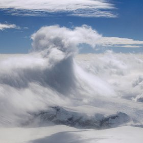 Mountain wave cloud over the Antarctic Peninsula