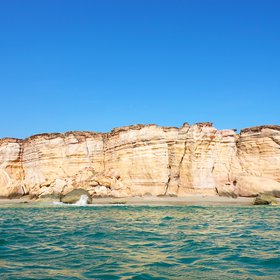 Ras al Jinz from the sea