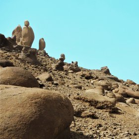 Ancient menhirs on Mars