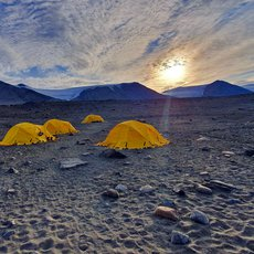 Base camp in the Taylor Valley, Antarctica