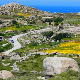 Boulders and farms in Tinos