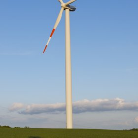 Wind turbine in Coppanz, near Jena