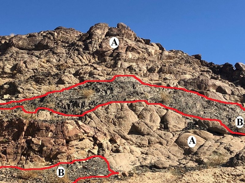 Contact between Ortho-gneiss and Para-gneiss