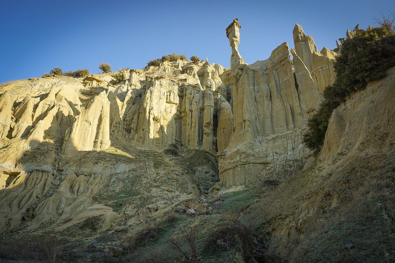The Hoodoos, the surreal formations