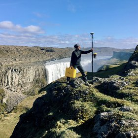 GPS measurements at Dettifoss, Iceland